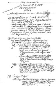 Protokoll från 1985